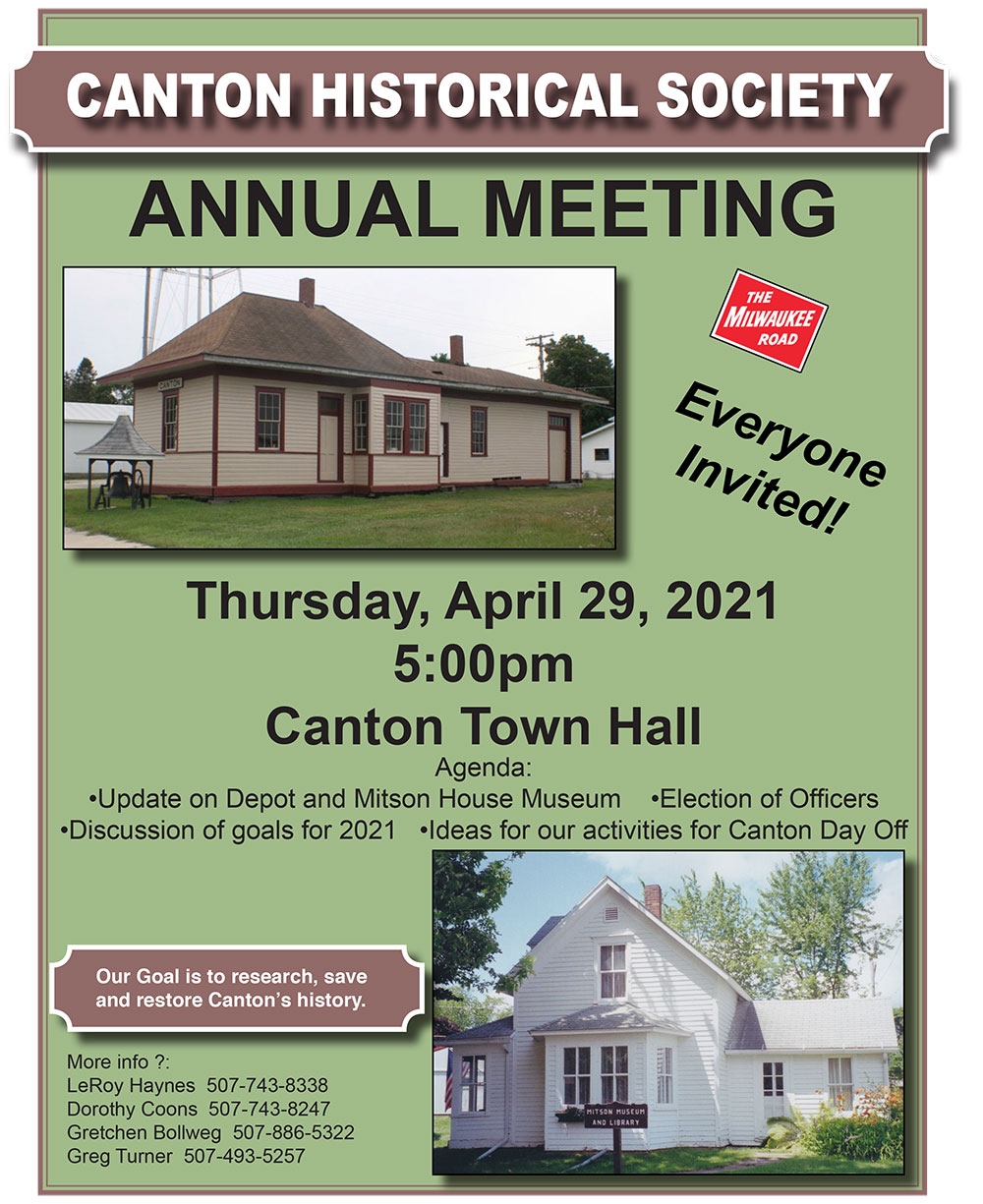 Canton Historical Society Annual Meeting